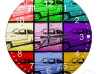 Wall Clocks / Unique and Colorful Wall Clocks in pretty patterns, polka dots, chevron stripes and bold colors.