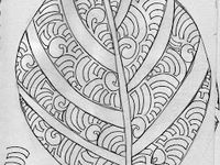Organic Tangle Patterns and Zentangle® Inspirations