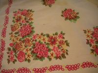 Vintage Table Cloths In My Etsy Shop