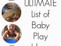 These are ideas to amuse babies 6 months and older