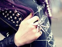 Spikes, studs and leather....