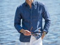 The Riviera Look / A rivera inspired look with a linen shirt and tassel loafers.