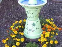 Garden Art-Bird Baths/ Bird Feeders/Glass Totems