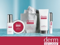 Derm Exclusive is a major advancement in age-reversing skincare and clinically shown to deliver results that are as good as-and often better than-the results at a dermatologist.  To order: http://www.beachbodycoach.com/esuite/home/JoannaBernhardt and hit the shop button. Or contact me.