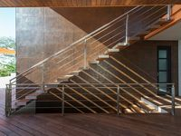 Modern Steel & Glass Stairs We Love / Modern and contemporary steel stairs and railings that look great.