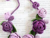 Gorgeous crochet necklaces with * photos * videos Tutorials