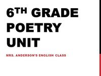 17 Best images about 6th grade poetry on Pinterest | Student ...