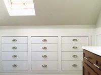 273 besten attic storage bilder auf pinterest begehbarer. Black Bedroom Furniture Sets. Home Design Ideas