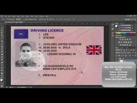 New Uk Driver License Template Psd 2016 Drivers License Templates Passport Template