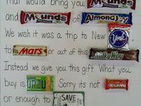 Candy Bar Cards