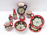 ceramica ilustrada / lo que mas me gusta de la ceramica decorada.  en todas las culturas hay distintas versiones con el mismo fin: hacer mas colorida la vida