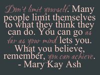 "Mary Kay- ""One woman can"""