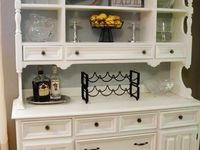 Painted Hutch, Cabinets and Cupboards