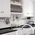Decorating Kitchen Cabinet Shelves