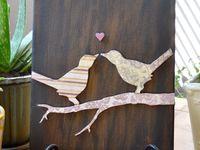 Bird and butterfly art