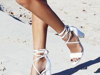 Femmes À bout ouvert Sandales Talon bottier Satiné avec Boucle Chaussures de mariage (047142644)