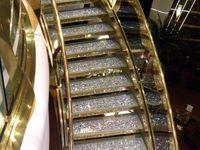 Stair case, slippery slide