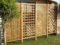 12 Best Lattice Ideas For My Honeysuckle Project Images On Pinterest 4x4 Wood Privacy Fence