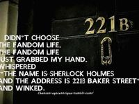 All things Sherlock. I watched it for the first time an it's sucked me in!