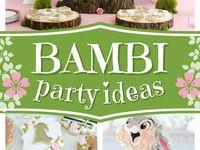 Bambi birthday party theme