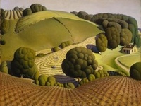 Grant Wood was an American painter, born 4 miles east of Anamosa, Iowa.  He is best known for his paintings depicting the rural American Midwest, particularly the painting American Gothic, an iconic image of the 20th century. 1891-1942