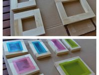 sun catchers and colored blocks