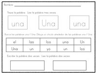 Spanish Activities sight  and spanish Syllables, Word in  Sight  Letters, Word Work and word activities