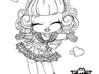 chibi monster high coloring pages - photo#25
