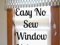 Easy valances no sew