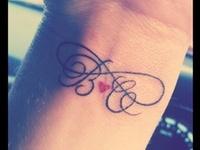 Tattoo  - Infinite Love w/ Initials (design - married couple)