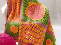 Crocheted COVERS & PILLOWS - Throws, Blankets, Afghans