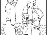 jesus feeds the 5000 coloring page - 75 best jesus feeds the five thousand images on pinterest