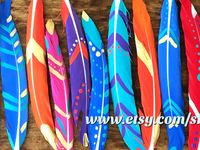 DIY painted craft feathers / A small selection of the DIY craft feathers you can purchase from my website! Perfect for creating your own projects such as dreamcatchers, jewellery or hair accessories