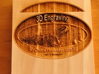 Wood engraved or printed / Engraved wood examples. Both solid woods and laminated timbers