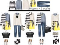 Pulling looks together using core pieces that mix and match making dressing easier.