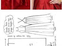 vestidos, moldes y tejido