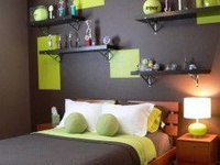 Ideas for Hunter Black and Green Bedroom