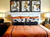 Earth toned bedroom