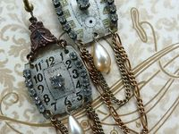 Altered, mixed media, upcycled jewelry