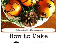 Christmas orange clove pomanders