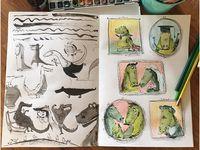День крокодила 2016 / Weekly drawing project by Elina Ellis.