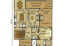 16 best images about floor plans on pinterest house for Open concept cape cod house plans