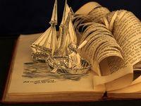 Art with books, books in art, books