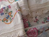 Linens, Lace and Fabrics