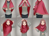Square hijab tutorial...!!!
