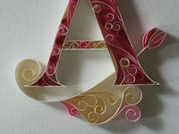 Quilling - Letters and Numbers