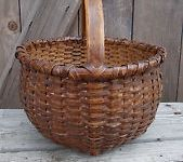 Painted and old country baskets