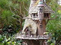 dish gardens and fairy homes & birdhouses