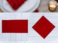 Napkin folding ideas