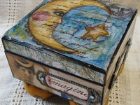 Altered Boxes, Tins, Bottles and Other Assemblage